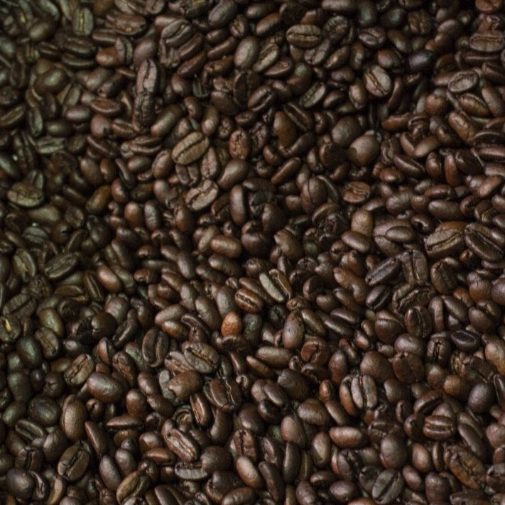 Sumatra coffee beans in roaster