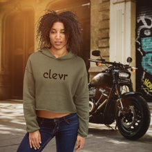 Load image into Gallery viewer, Clevr | Women's Crop Hoodie - Clevr Designs - Clevr Branded, Modern / Streetwear