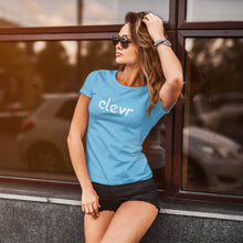 Load image into Gallery viewer, Clevr | Women's Fitted T-Shirt - Clevr Designs - Clevr Branded, Modern / Streetwear