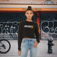 Load image into Gallery viewer, Rebel | Women's Crop Sweatshirt - Clevr Designs - Vintage / Retro Style