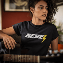 Load image into Gallery viewer, Rebel | Women's Fitted T-Shirt - Clevr Designs - Vintage / Retro Style