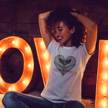 Load image into Gallery viewer, Love Riding | Women's Fitted T-Shirt - Clevr Designs - Inspiration / Motivation, Modern / Streetwear