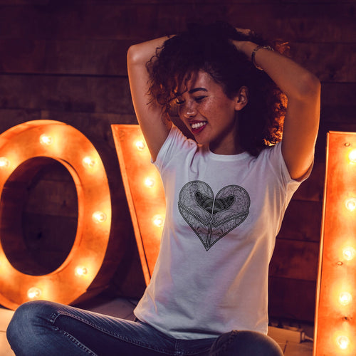 Love Riding | Women's Fitted T-Shirt - Clevr Designs - Cars / Motorcycles, Inspiration / Motivation, Modern / Streetwear