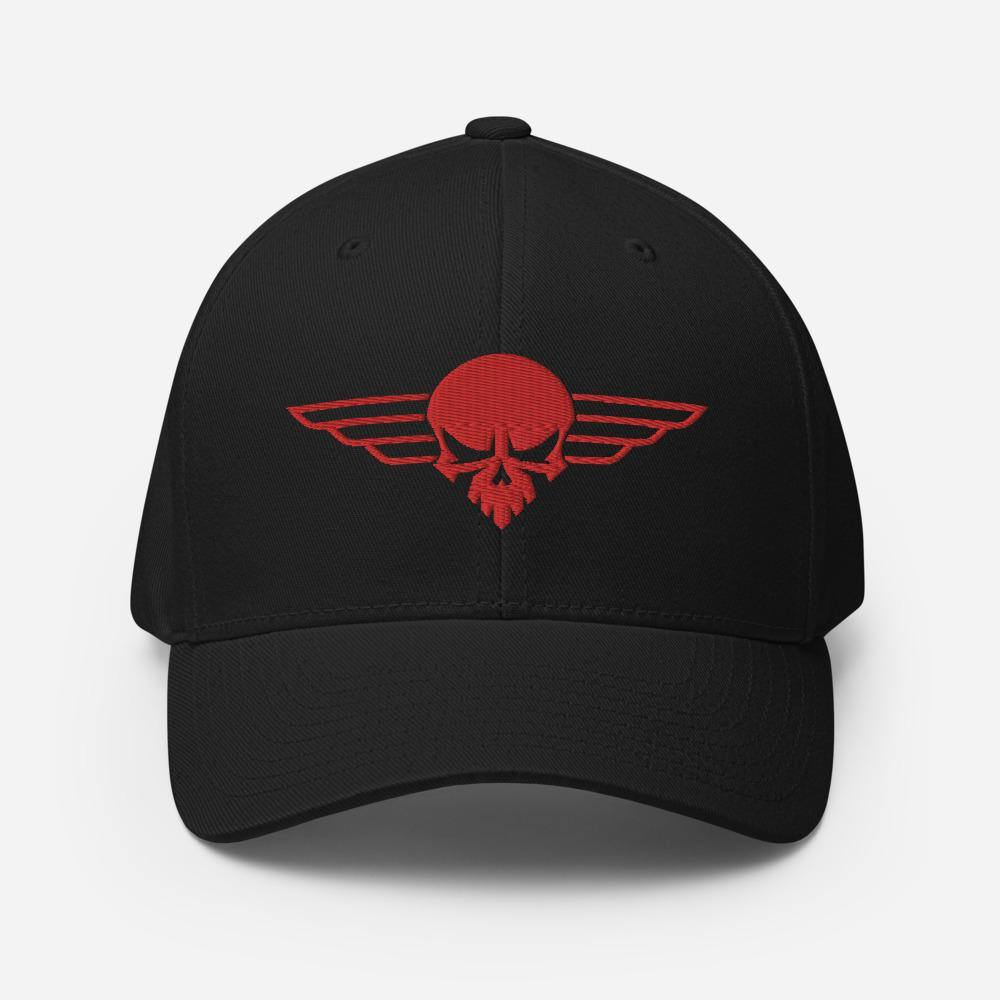 Death From Above | FlexFit Fitted Hat - Clevr Designs - Military / Patriotic, Modern / Streetwear