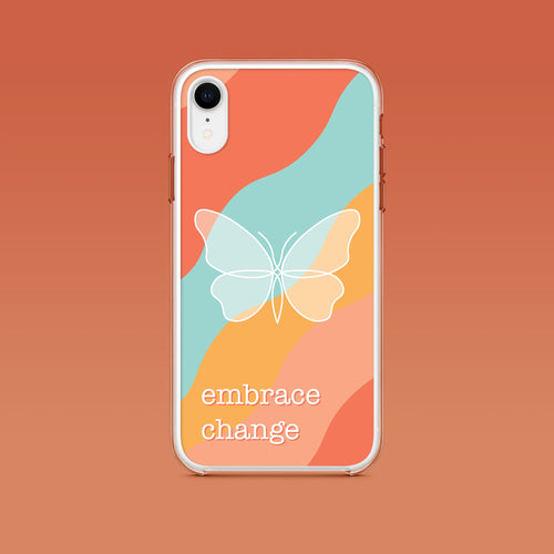 iPhone: Embrace Change Aesthetic Phone Case - Clevr Designs - Inspiration / Motivation, iPhone Cases, Vintage / Retro Style