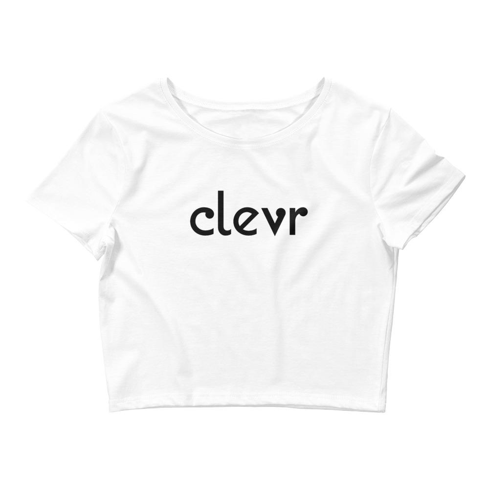 Clevr | Women's Crop Tee - Clevr Designs - Clevr Branded, Modern / Streetwear