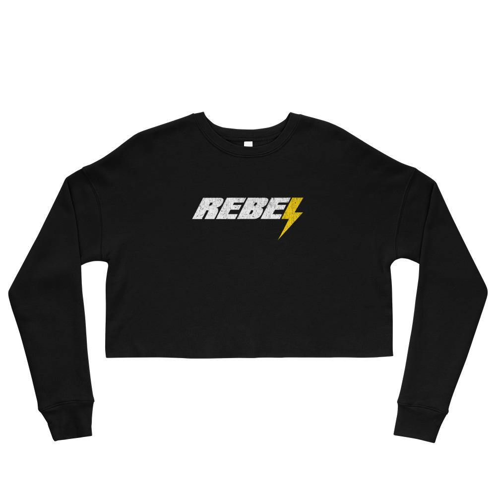 Rebel | Women's Crop Sweatshirt - Clevr Designs - Vintage / Retro Style