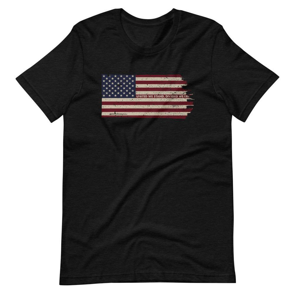 United We Stand in Color | Unisex & Men's T-Shirt - Clevr Designs - Military / Patriotic, Vintage / Retro Style