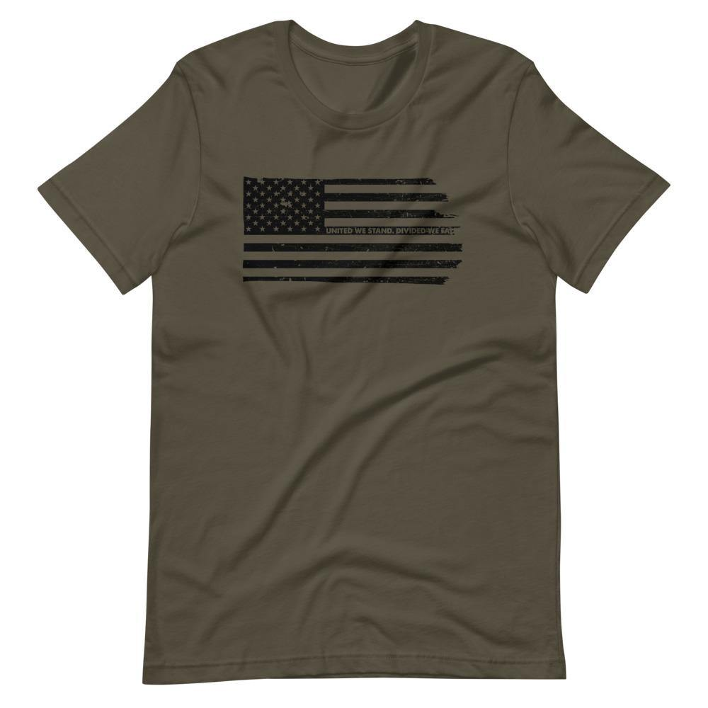 United We Stand | Unisex & Men's T-Shirt - Clevr Designs - Military / Patriotic, Vintage / Retro Style