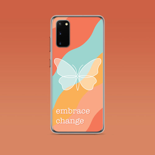 Samsung: Embrace Change Aesthetic Phone Case - Clevr Designs - Inspiration / Motivation, Samsung Cases, Vintage / Retro Style