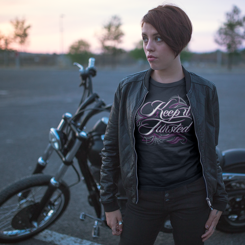 Keep It Twisted | Women's Fitted T-Shirt - Clevr Designs - Cars / Motorcycles, Humor / Funny, Vintage / Retro Style