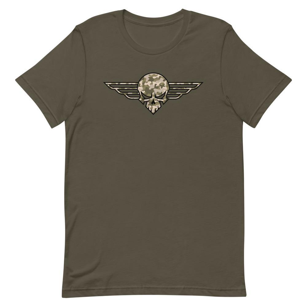 Death From Above Camo | Unisex & Men's T-Shirt - Clevr Designs - Military / Patriotic, Modern / Streetwear