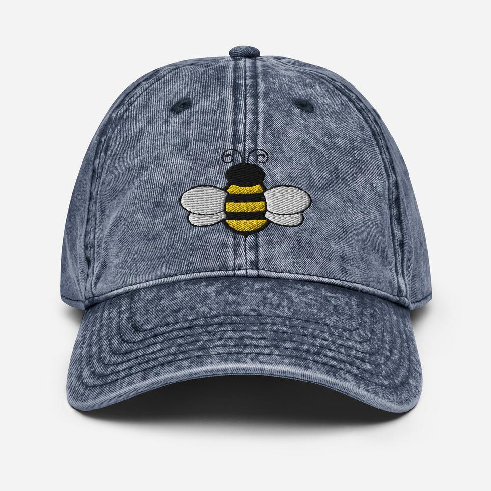 Vintage Honey Bee | Women's Baseball Hat - Clevr Designs - Vintage / Retro Style