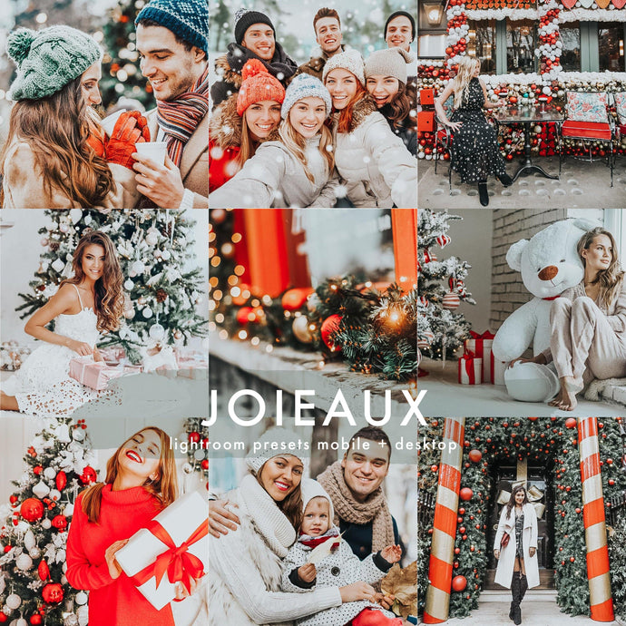 Best Lightroom Presets LR Mobile presets Joieaux! Christmas Lightroom Presets