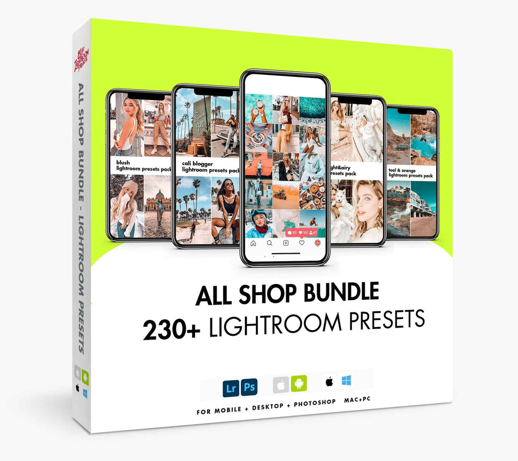 Best Lightroom Presets LR Mobile presets All Lightroom Presets Bundle