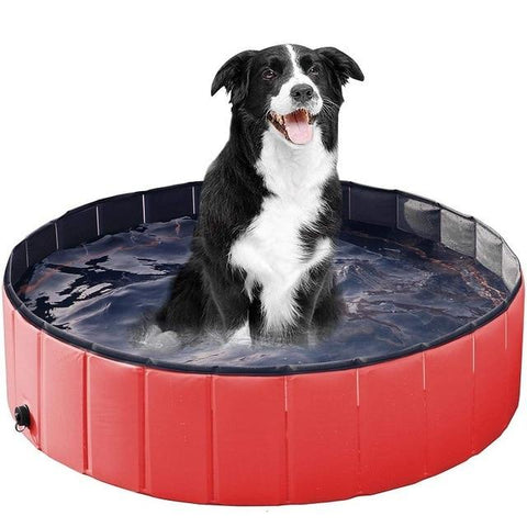 Dog Foldable Water Pool Red