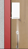 Handle Hygiene System showing automatic sanitising of door handles