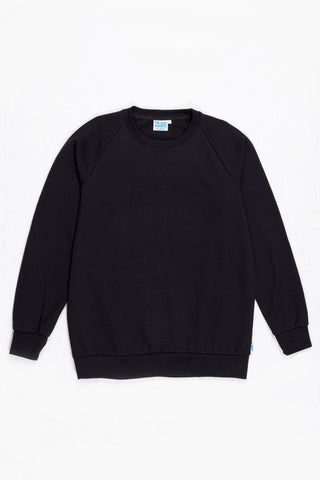 CREW NECK SWEAT ORGANIC - BLACK