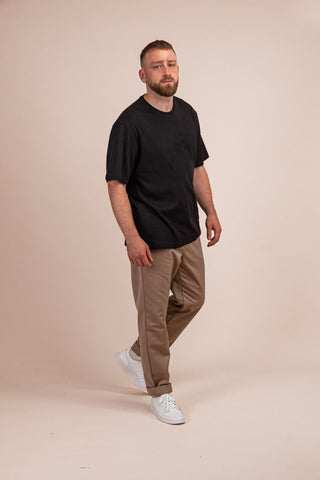 T-SHIRT RELAXED - SORT - TURTLE WORKWEAR