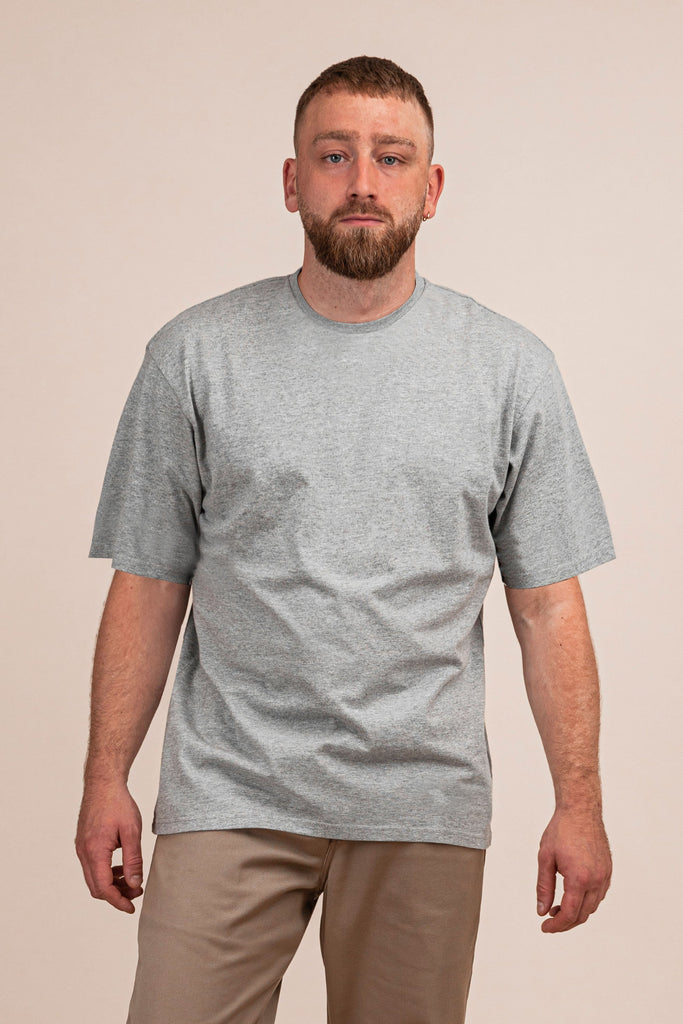 T-SHIRT RELAXED - GRÅ - TURTLE WORKWEAR
