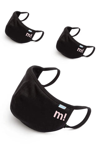 M! - ICON - FACE MASK - BLACK - 3PACK