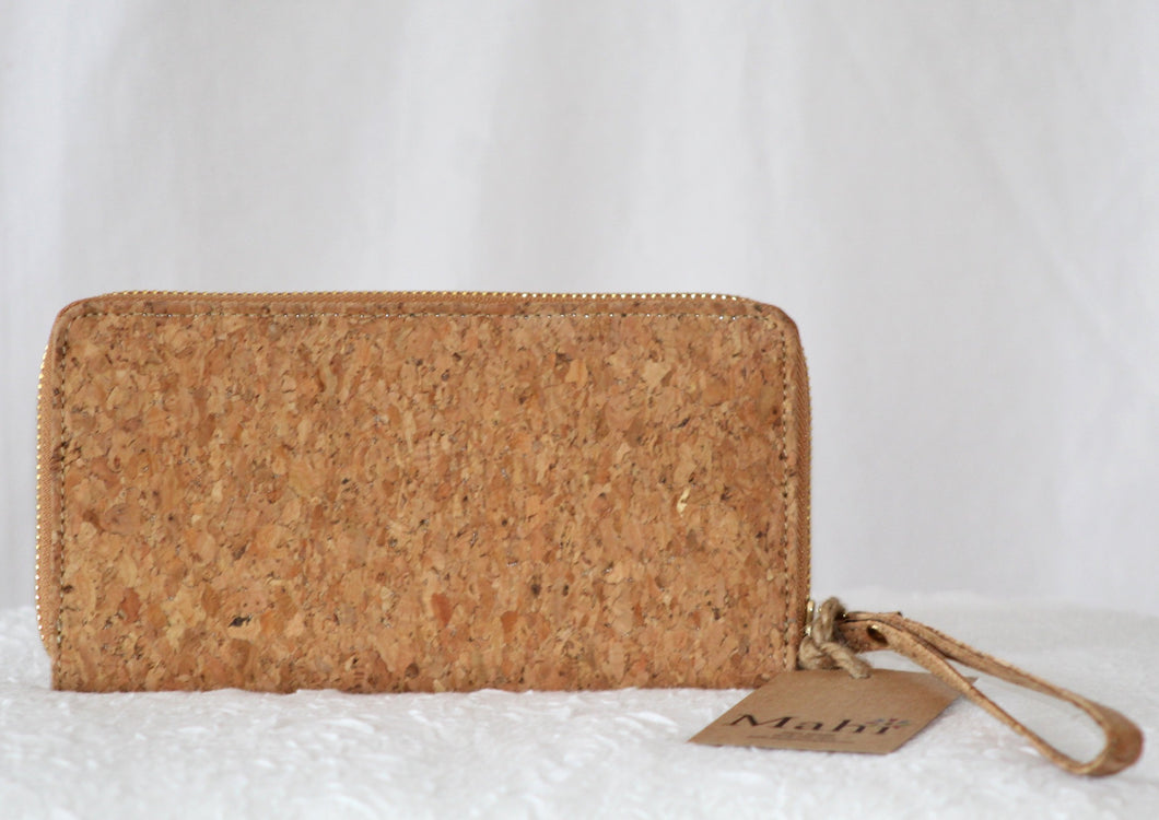 Cork Zip Around Wallet