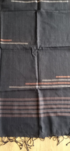 Load image into Gallery viewer, Handloom Jamdani Stole: Dark