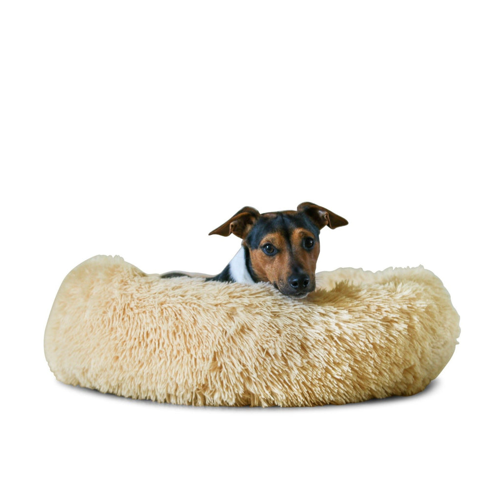 Cream Anti Anxiety Dog Bed