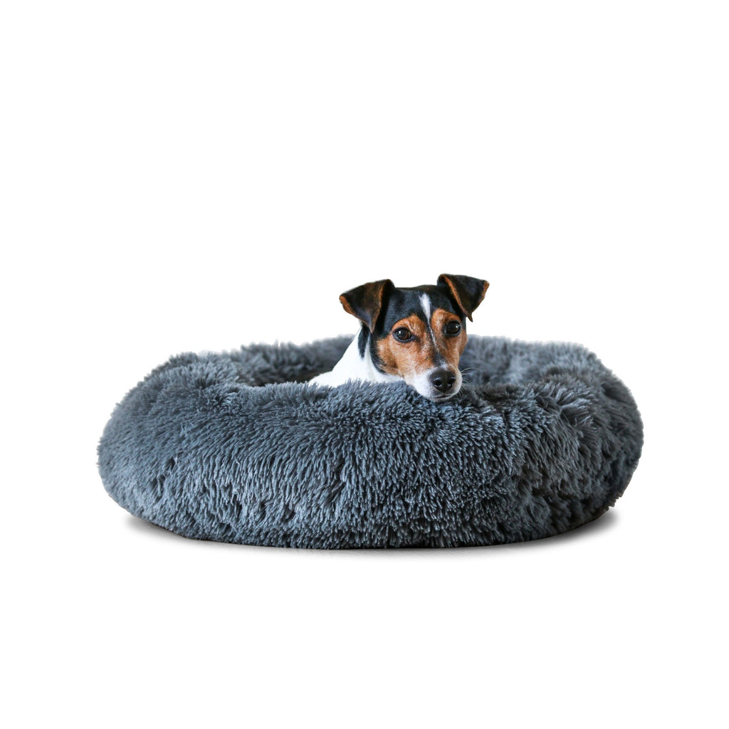 Dark Grey Calming Dog Bed
