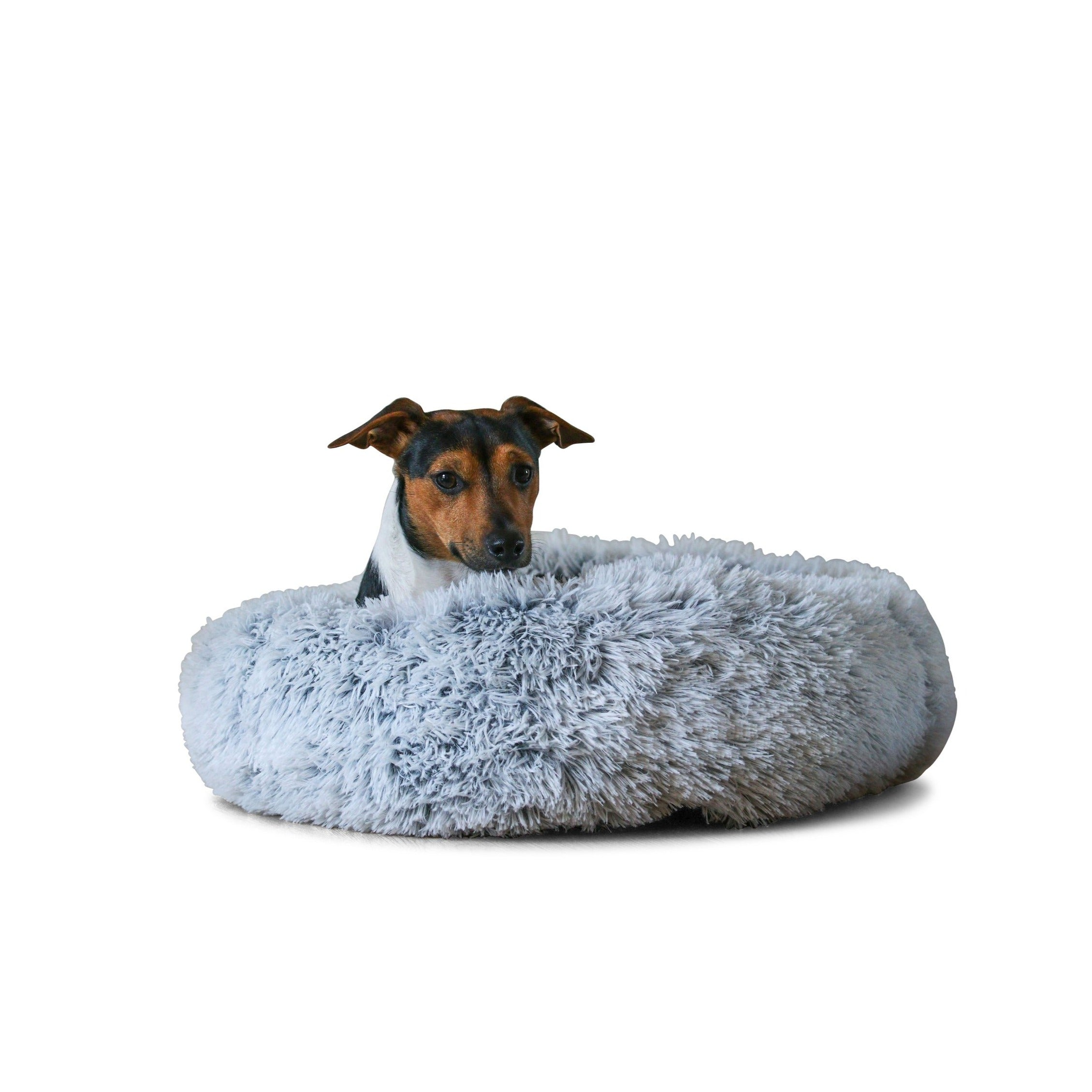 Light Grey Calming Dog Bed