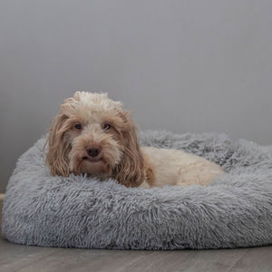 Grey Calming Dog Bed