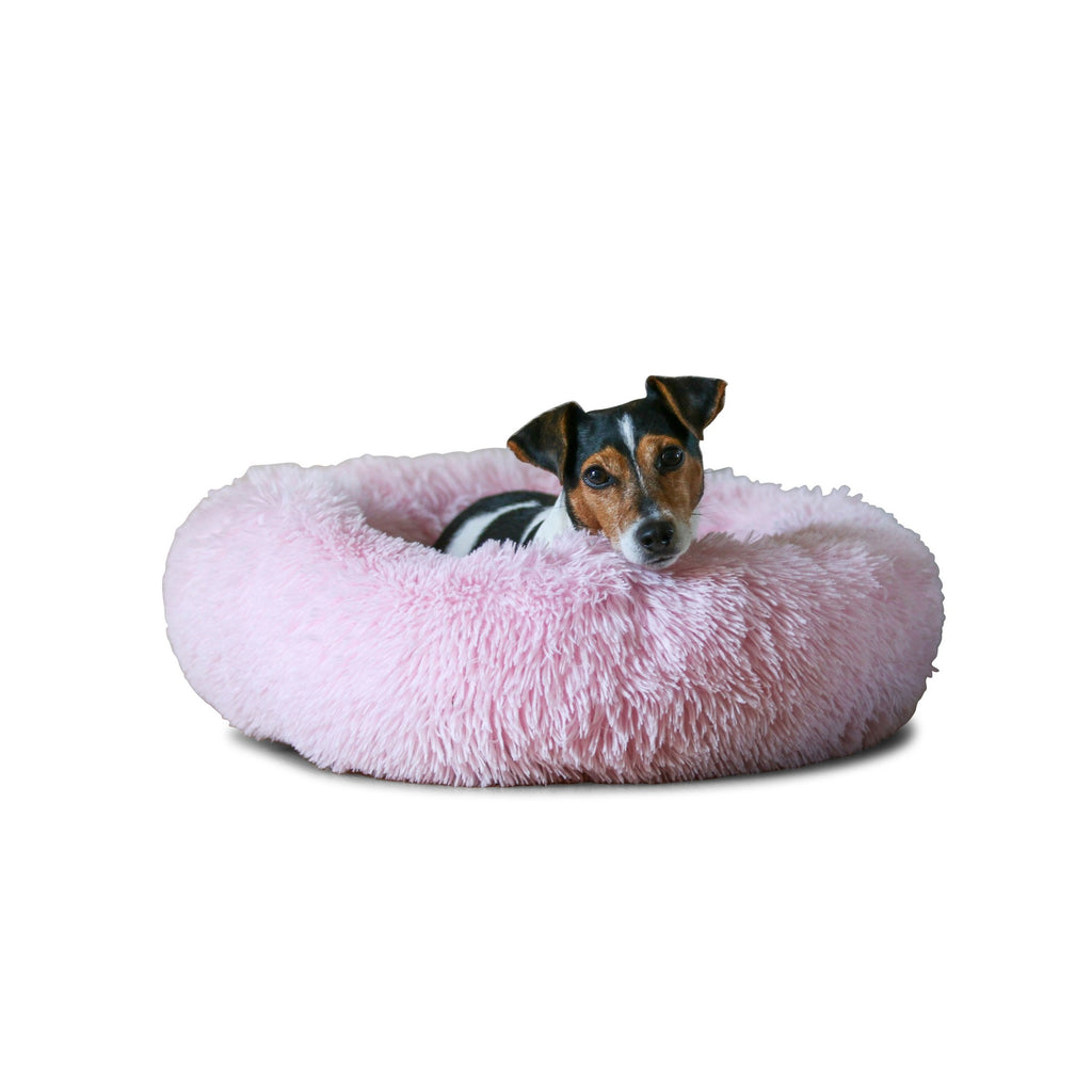 Pink Calming Dog Bed