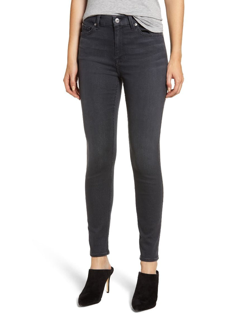 7 for all Mankind High Waist Ankle Skinny - Bastle Grey - Styleartist