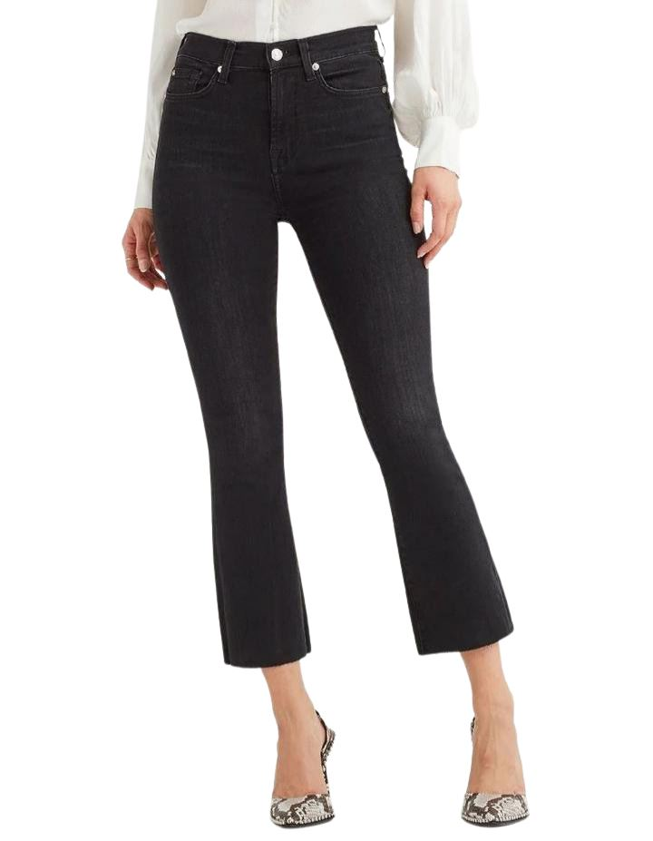 7 for all Mankind High Waist Slim Kick with Cut off Hem - Styleartist