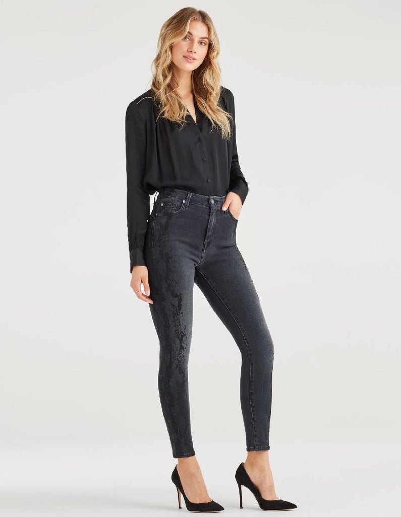 7 for all Mankind Luxe Vintage High Waist Aubrey Snake - Styleartist