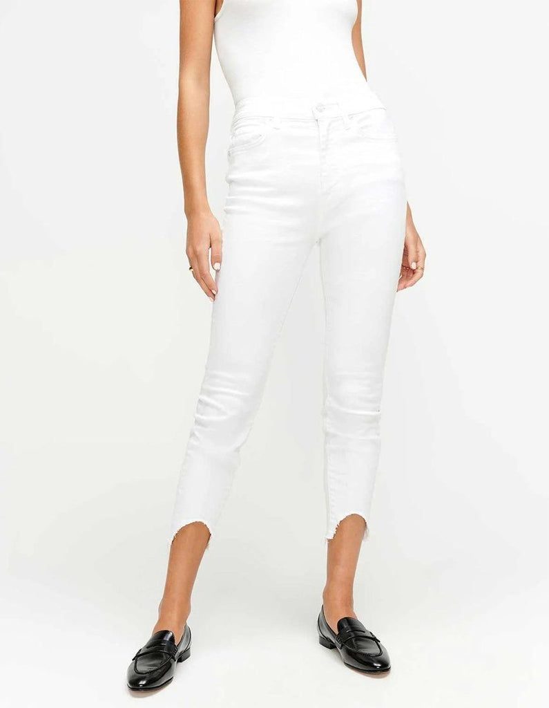 7 for all Mankind The Ankle Skinny - Clean White - Styleartist