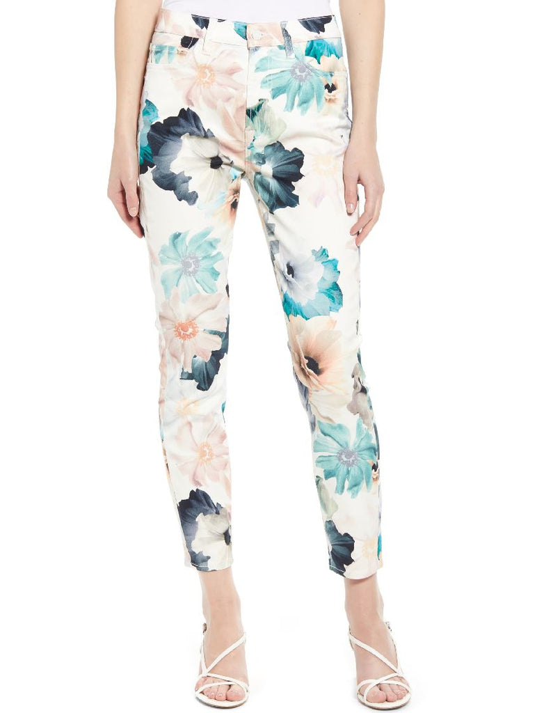 7 for all Mankind The Ankle Skinny - Floral Print - Styleartist