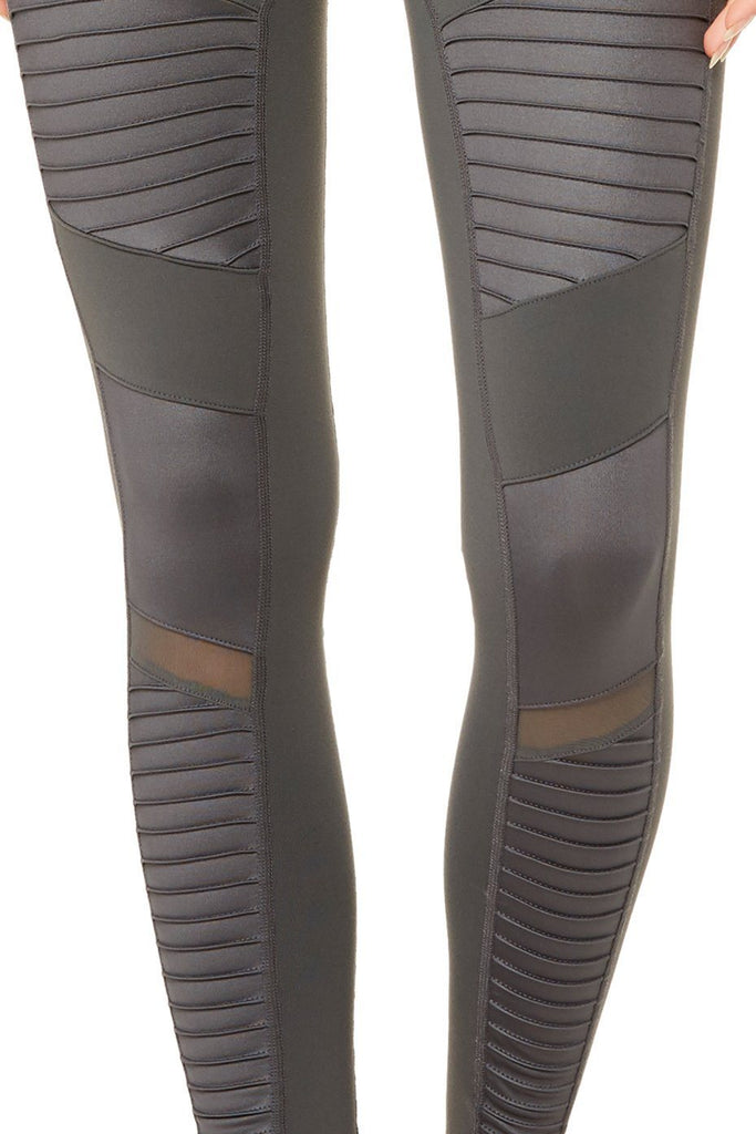 alo Moto Legging - Anthracite - Styleartist