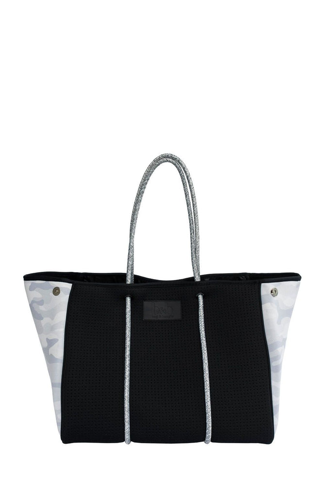 Bag & Bougie Neoprene Tote- Black Camo - Styleartist