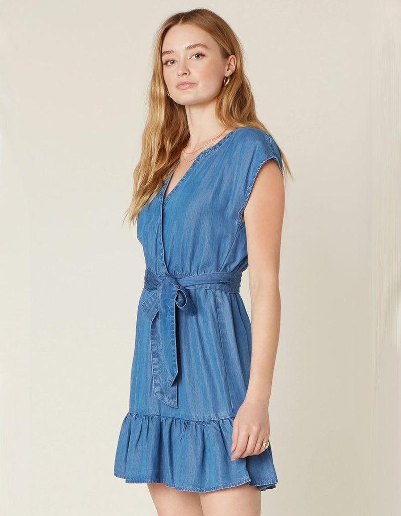 BB Dakota Into The Indigo Dress - Medium Blue - Styleartist