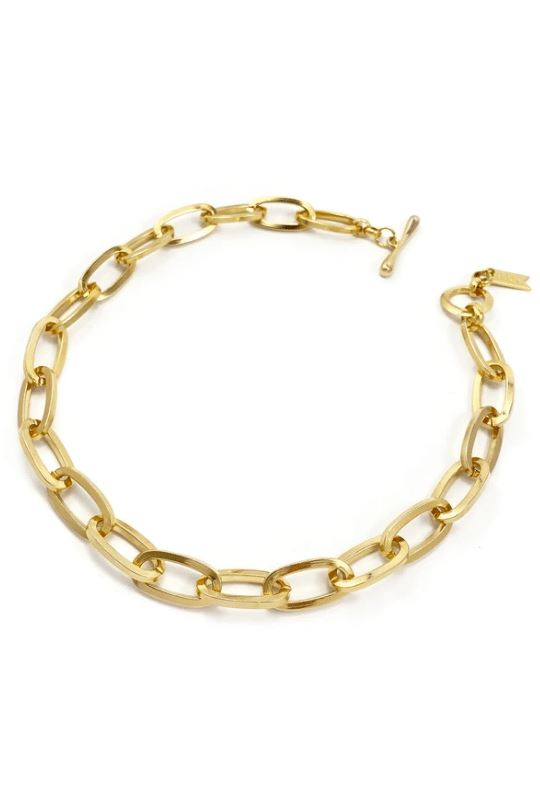 Biko Essential Chainlink Collar Necklace - Gold - Styleartist