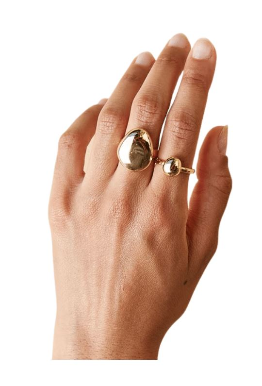 Biko Galina Ring (Small) - Gold - Styleartist