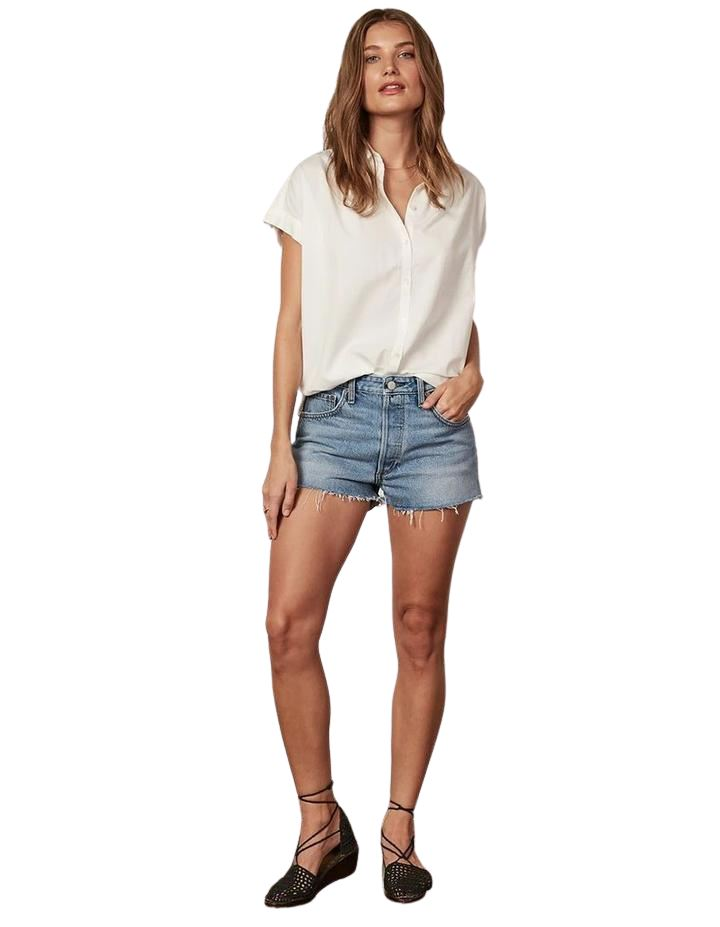 Boyish Jeans The Cody High Rise Cut Off Short - Medium Wash - Styleartist