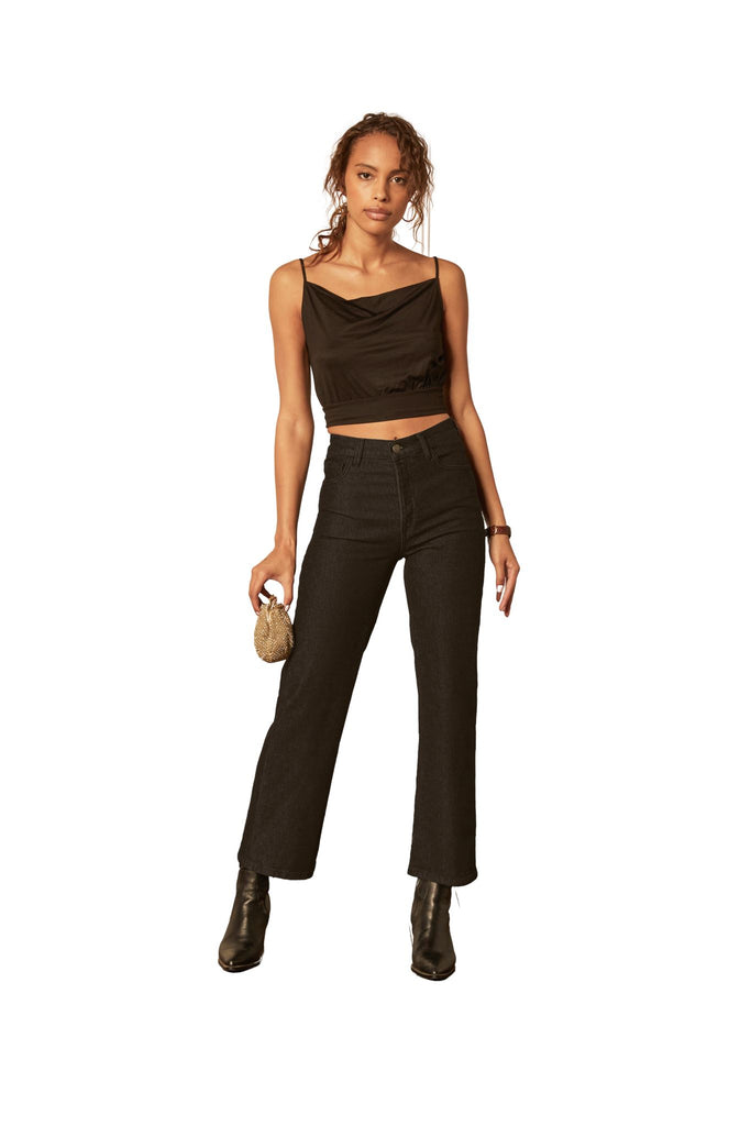 Boyish Jeans The Mikey High Rise Wide Leg Jean- Black Beauty - Styleartist