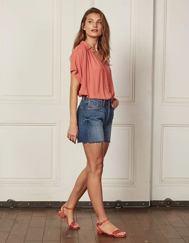 Boyish Jeans The Monty High-Rise Relaxed Short- Medium Wash - Styleartist