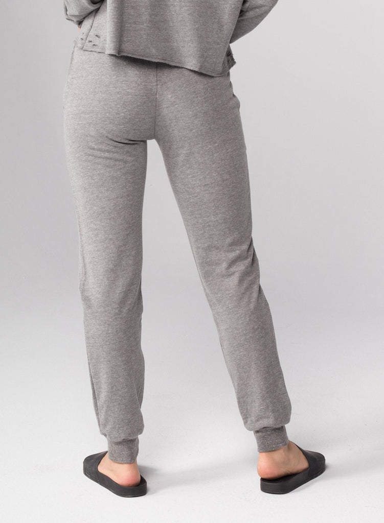 CHRLDR Love Heart Flat Pocket Sweatpants- Heather Grey - Styleartist