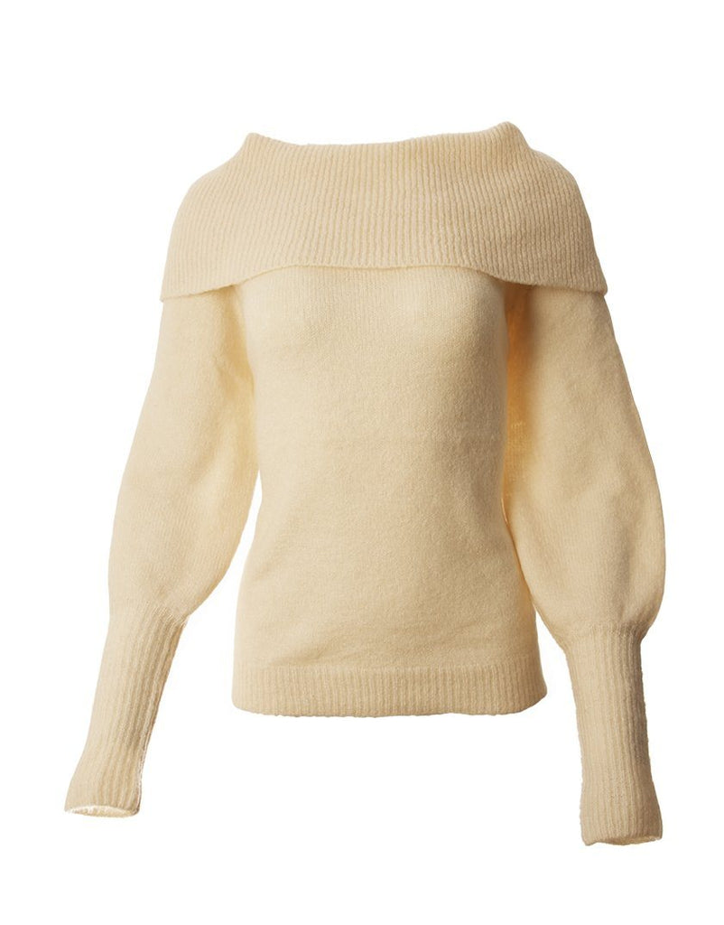 Cowl Neck Sweater - Pink - Styleartist