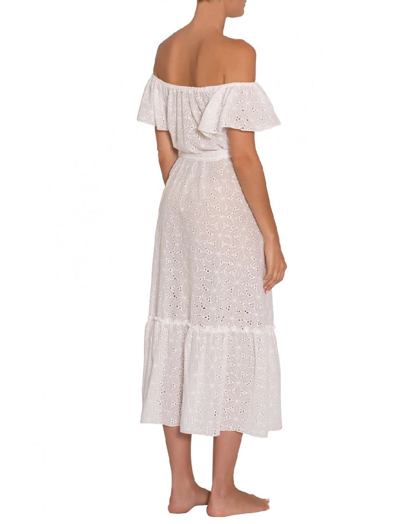 Eberjey Sardinia Effie Eyelet Dress - White - Styleartist