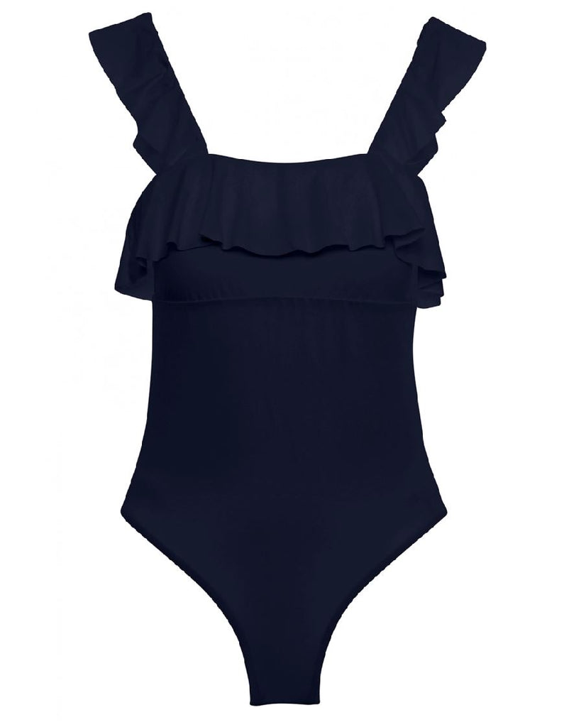 Eberjey So Solid Jane One Piece Bathing Suit- Peacoat Blue - Styleartist