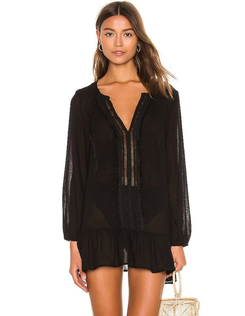 Eberjey Summer of Love Elba Cover Up - Black - Styleartist